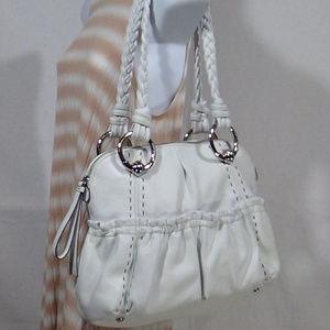 B.Makowsky Glove Leather Medium Zip Top Satchel